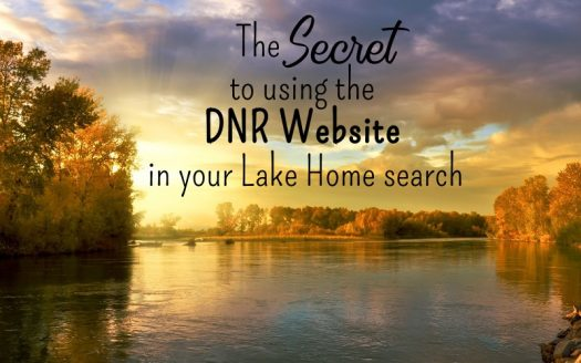 Secret to using the DNR website in lake home search