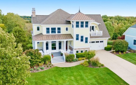 gorgeous home in gated Lake Michigan community